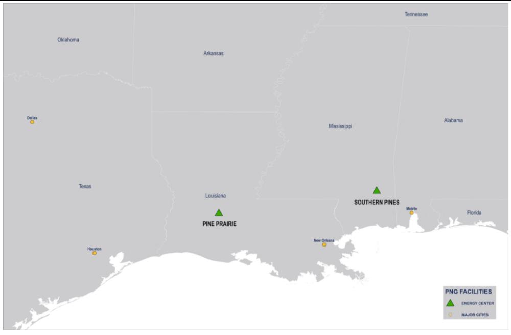 نقشه تاسیسات ذخیره گاز طبیعی کاج