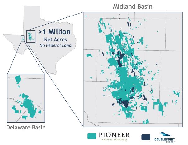 منابع طبیعی Pioneer Permian Basin Map Asset