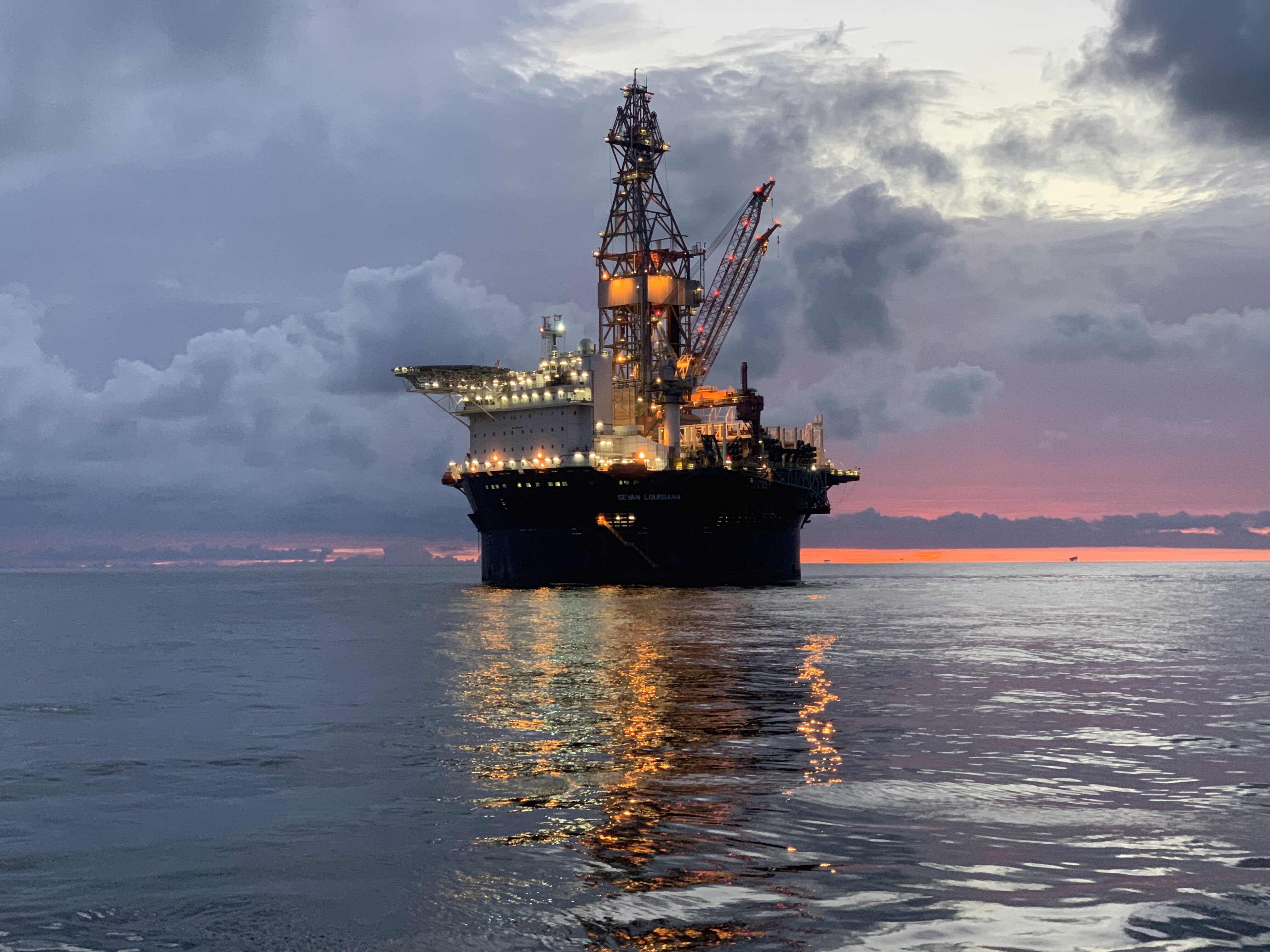The Sevan Louisiana, built in 2013, is a sixth-generation Sevan 650 DP semisubmersible drilling rig. (Source: Seadrill)