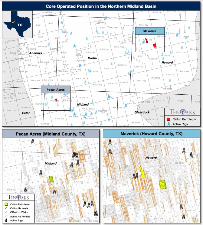 مشاوران انرژی TenOaks نقشه را به بازار عرضه کردند - فروش کالون پترولیوم با استفاده از میدلند