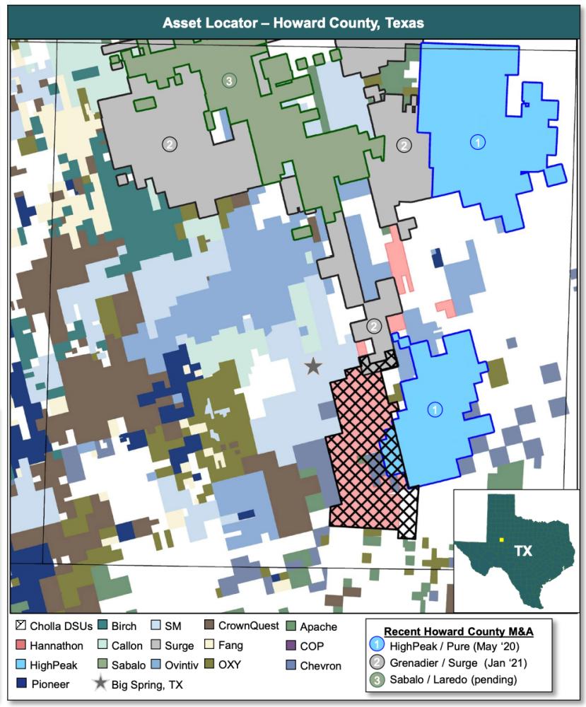 نقشه مشاوران انرژی TenOaks به بازار عرضه شد - فرصت خرید حوضه Cholla Petroleum Midland