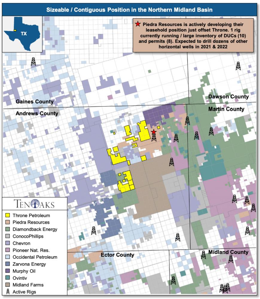 مشاوران انرژی TenOaks نقشه را به بازار عرضه كردند - Throne Petroleum با بهره برداری از فروش حوضه میدلند