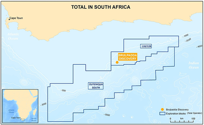Total's acreage in South Africa (Source: Total)