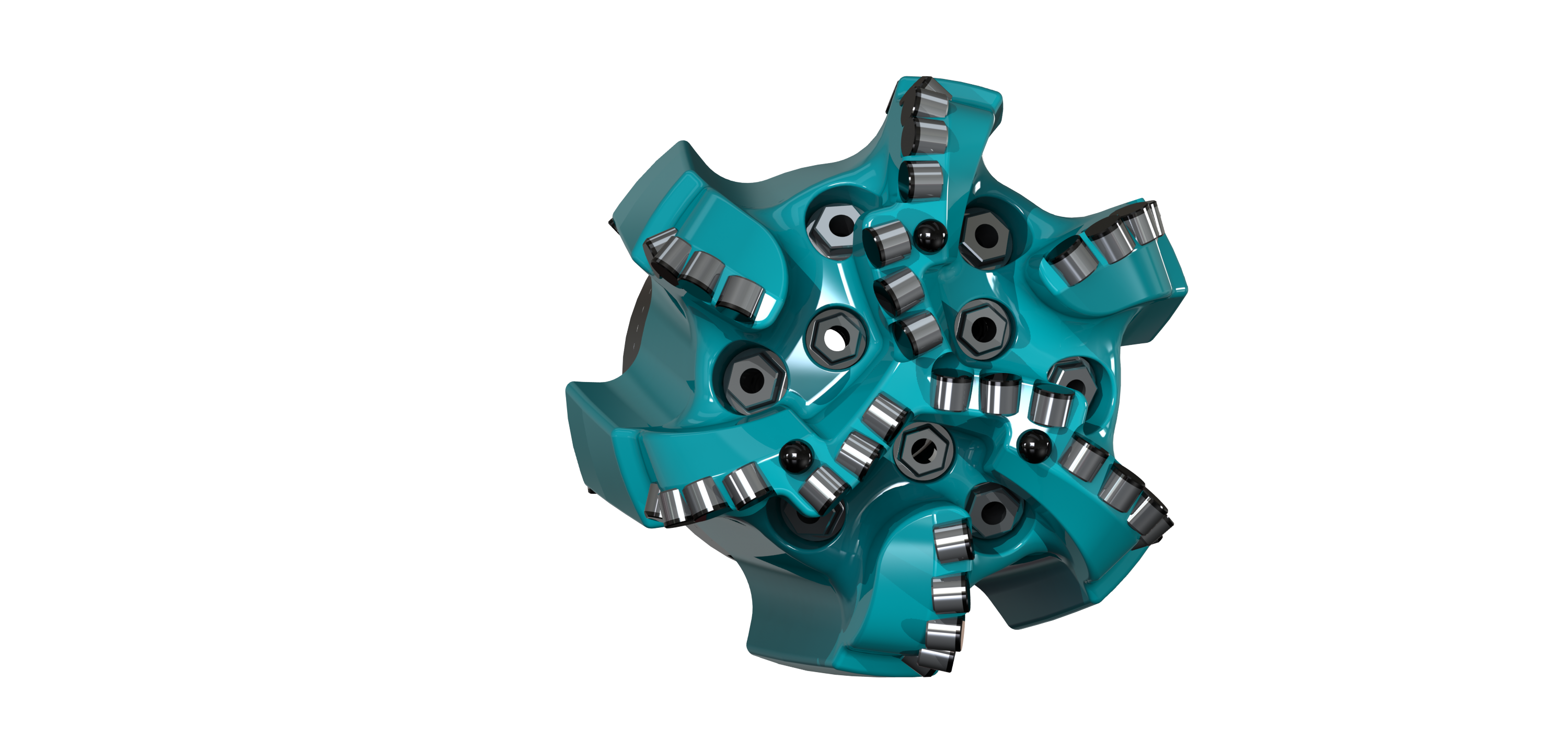 Ulterra's SplitBlade PDC drillbit with advanced hydraulics and layout is designed for maximum performance. (Source: Ulterra)