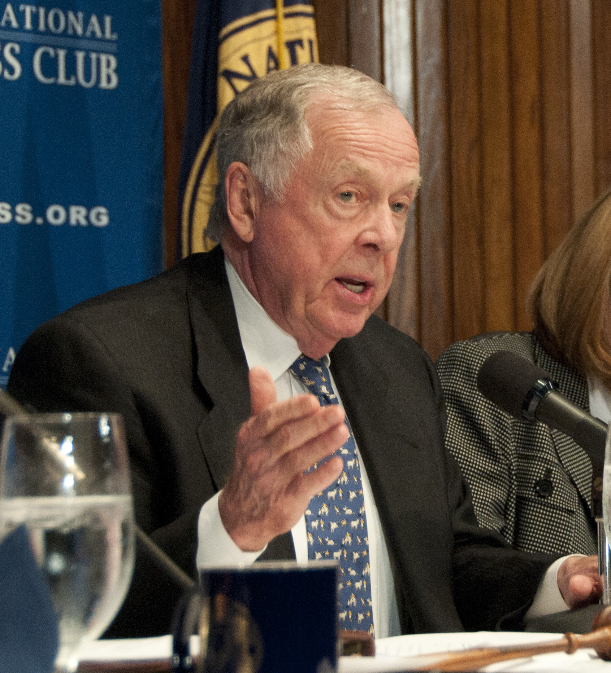 American financier and investor T. Boone Pickens spoke on energy policy at the National Press Club on April 19, 2011, in Washington, DC. (Source: Albert H. Teich/Shutterstock.com)