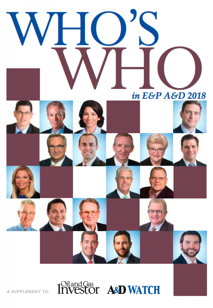Who's Who in E&P A&D 2018
