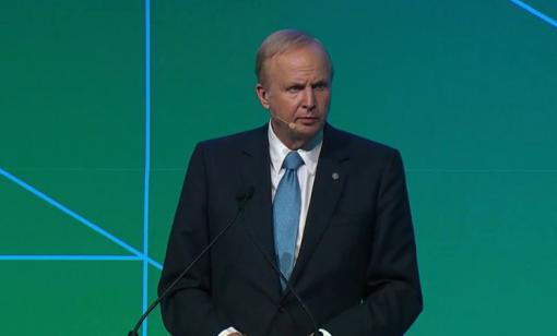 BP CEO Bob Dudley addresses CERAWeek in Houston. (Source: CERAWeek by IHS Markit)