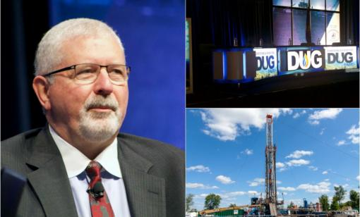 Encino Energy CEO Ray Walker speaks during Hart Energy's DUG East conference in Pittsburgh. The company has a 900,000-acre Utica Shale leasehold. (Source: Hart Energy/George Sheldon/Shutterstock.com)