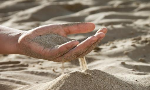 Companies that supply frac sand are being impacted by the slowdown in U.S. shale activity. (Source: Shutterstock.com)