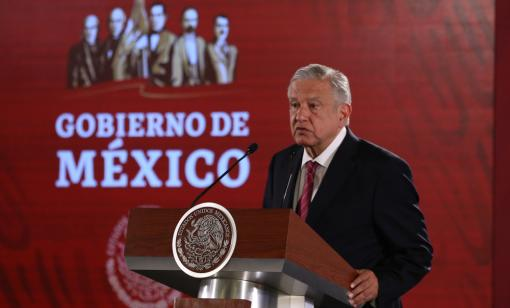 Andrés Manuel López Obrador, president of Mexico, attends a morning press conference in National Palace in April. (Source: Octavio Hoyos/Shutterstock.com)