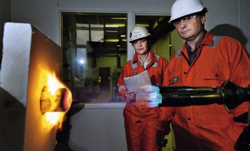 Fire test (Source: Trelleborg Offshore)