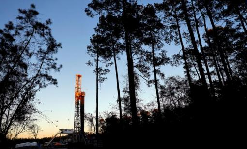 Drilling rig in the Haynesville Shale near Greenwood, La. (Source: Hart Energy)