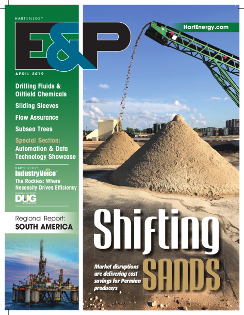 E&P Magazine frac sand and logistics