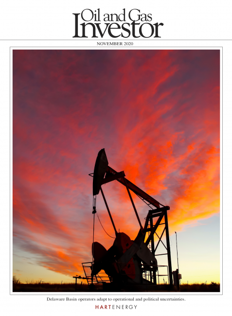 Oil and Gas Investor - November 2020 cover