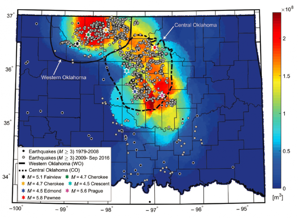 Predicting Induced Seismicity | Hart Energy on map of volcanic activity, map of radon, map of volcanoes, map of radiation, map of hail, map of coastal areas, map of flooding, map of crime statistics, map of bridges, map of tunnels, map of water table, map of tornadoes,