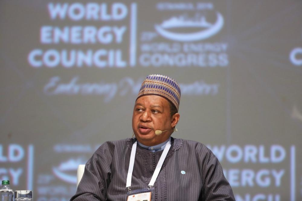 OPEC Secretary-General Mohammad Barkindo at the 23rd World Energy Congress in 2016.