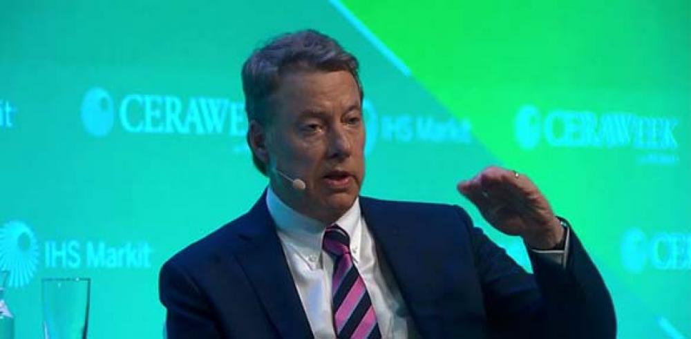 Ford Motor Co. Executive Chairman William Clay Ford Jr. answers questions from Daniel Yergin, IHS Markit during CERAWeek in Houston. (Source: CERAWeek by IHS Markit)