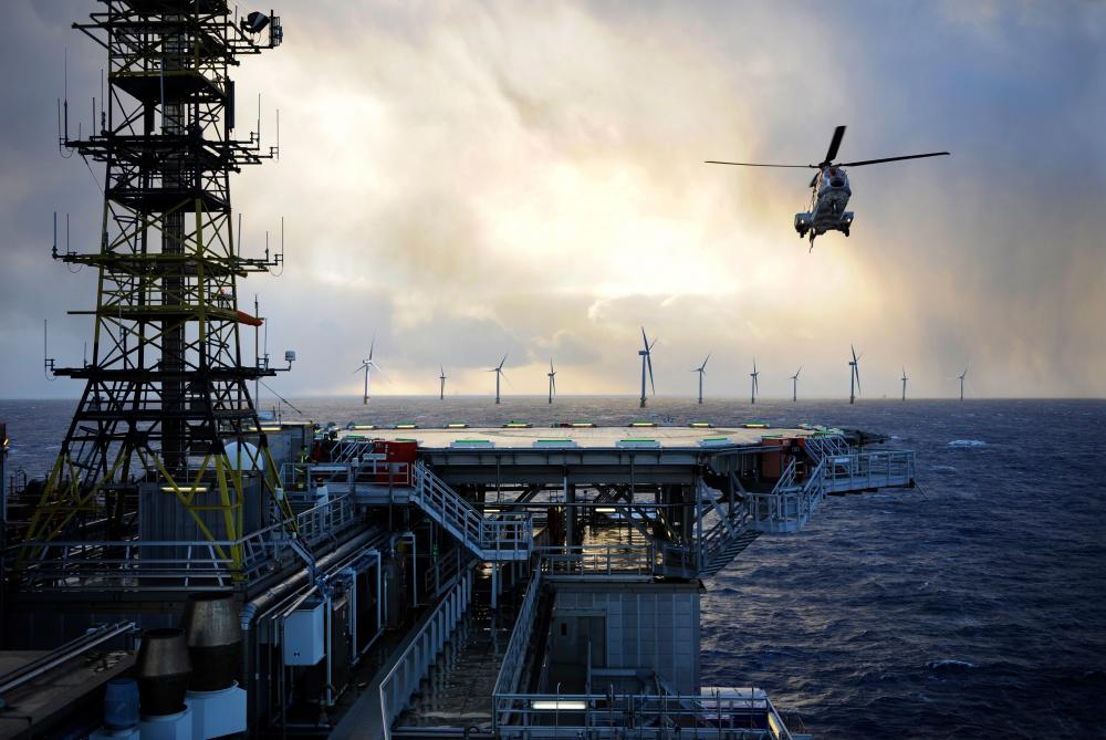 Equinor is already exploring the possibility of powering oil production utilizing floating offshore wind with its Hywind Tampen project for the Gullfaks and Snorre fields. (Source: Aker Solutions)