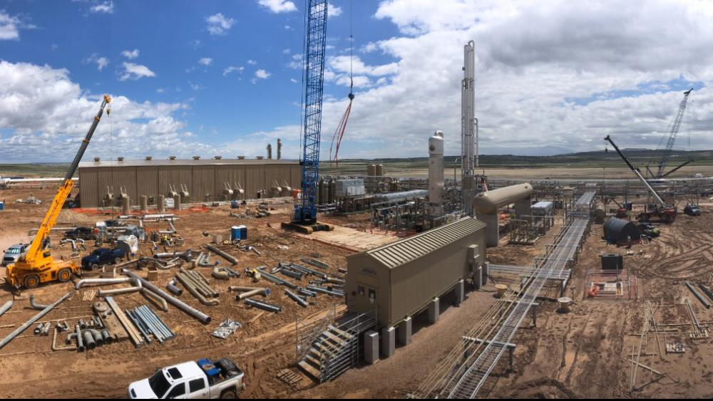 Construction of Steamboat I, Meritage Midstream's natural gas cryogenic processing plant plant in Wyoming's Powder River Basin.