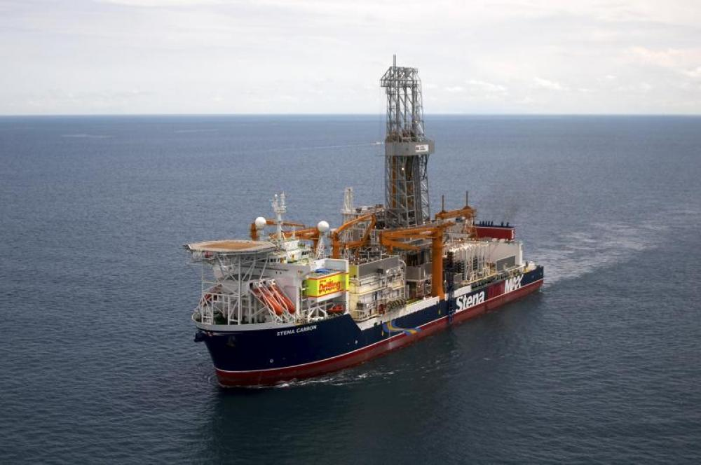 The Yellowtail-2 well was drilled by the Stena Carron drillship in the Stabroek Block offshore Guyana. (Source: Hess)