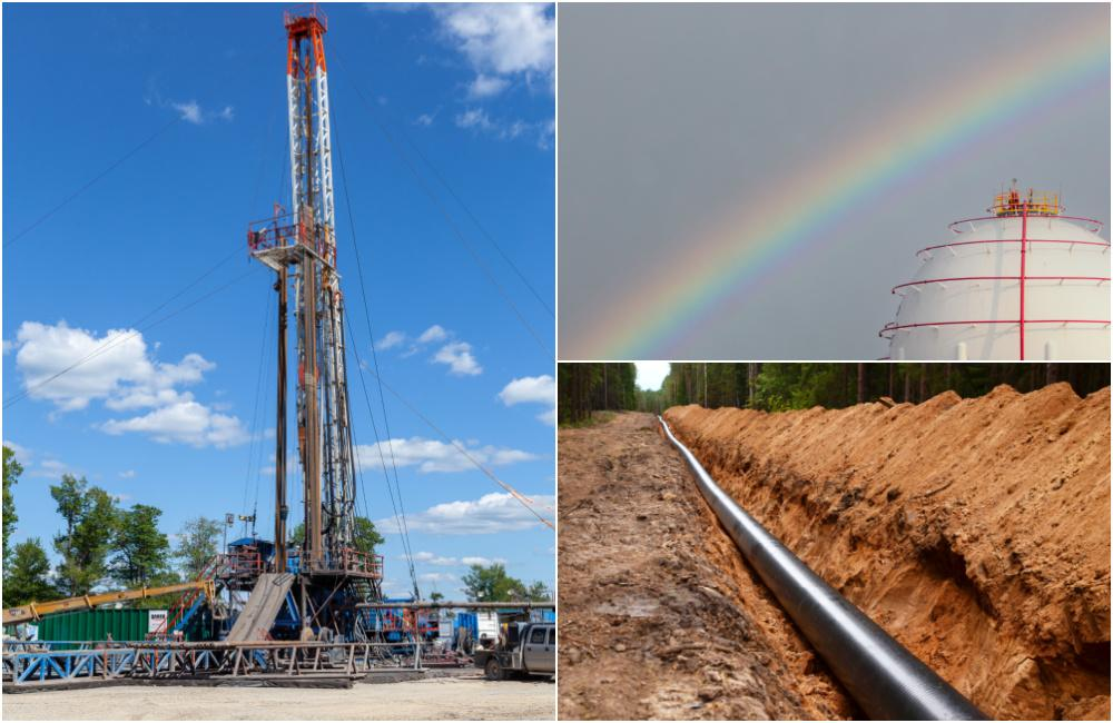 Marcellus-drilling-site-storage-tank-natural-gas-pipeline